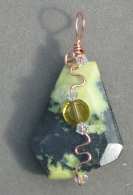 "Wire-wrapped ""Yellow Turquoise"" Pendant"